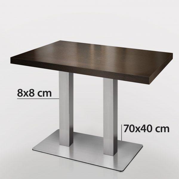 Horeca tafel met RVS onderstel 120 x 70