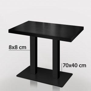 Horecatafel zwart 120 x 70