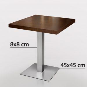 70 x 70 horecatafel met RVS onderstel
