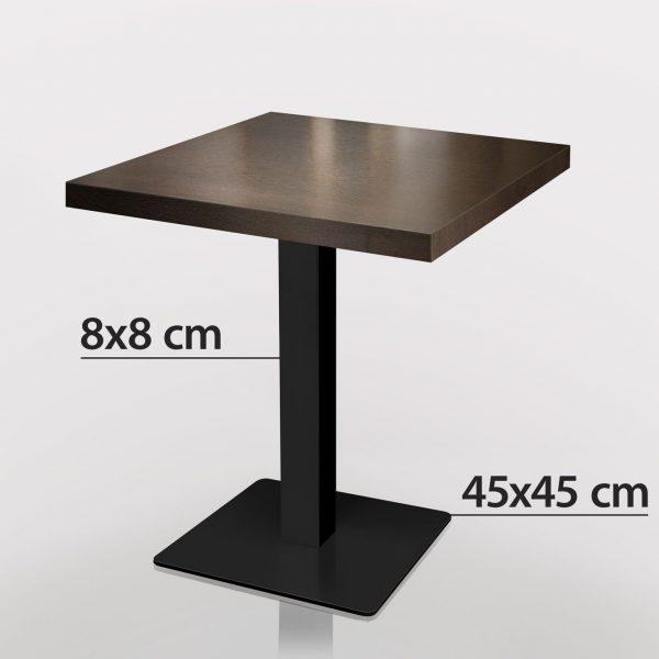 Horeca tafel 70 x 70 zwart onderstel