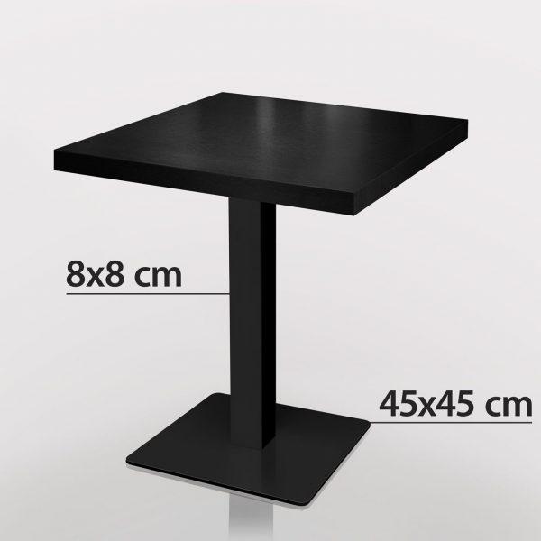 Zwart horeca tafel met zwart onderstel